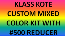 Custom Mixed Color Kit with Reducer