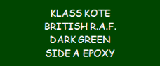 British R.A.F. Dark Green