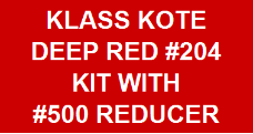Deep Red #204 Kit with Reducer
