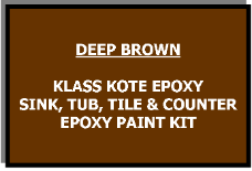 Deep Brown Bathtub Painting Kit