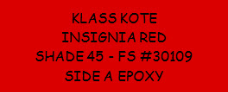 Insignia Red - Shade 45 - FS 30109