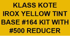 Irox Yellow Tint Base #164 Kit with Reducer