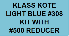 Light Blue #308 Kit with Reducer