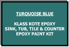 Turquoise Bathtub Painting Kit