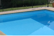 Epoxy painted swimming pool