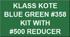 Blue Green #358 Kit with Reducer