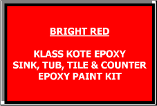Bright Red Bathtub Painting Kit