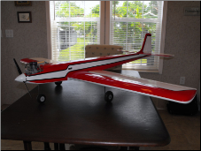 Model RC plane with Klass Kote Epoxy paint