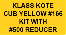 Cub Yellow #166 Kit with Reducer