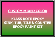 Custom Mixed Color Bathtub Painting Kit