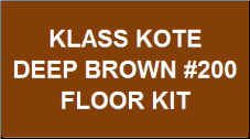 Deep Brown Floor Kit