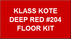 Deep Red #204 Floor Kit