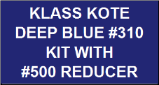 Deep Blue #310 Kit with Reducer
