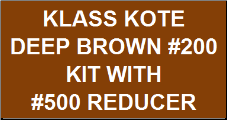 Deep Brown #200 Kit with Reducer