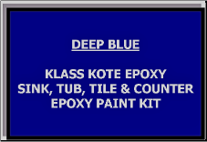 Deep Blue Bathtub Painting Kit