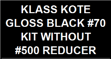 Gloss Black #70 Kit without Reducer