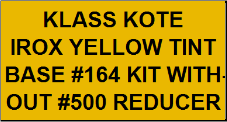 Irox Yellow Tint Base #164 Kit without Reducer