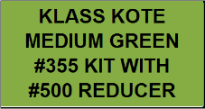 Medium Green #355 Kit with Reducer