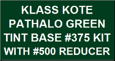 Pathalo Green Tint Base #375 Kit with Reducer