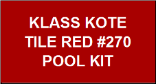 Tile Red Pool Kit