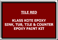 Tile Red Bathtub Painting Kit