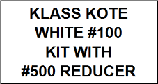 White #100 kit with Reducer