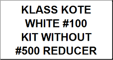 White #100 kit without Reducer