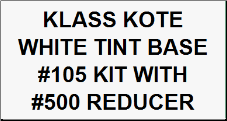 White Tint Base #105 Kit with Reducer