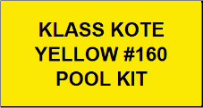 Yellow #160 Pool Kit