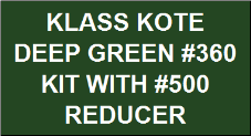 Deep Green #360 Kit with Reducer