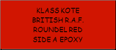British R.A.F. Roundel Red