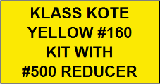 Yellow #160 Kit with Reducer