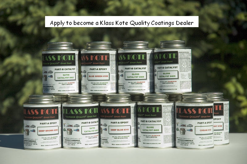 Klass Kote Epoxy paint cans