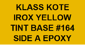 Irox Yellow Tint Base #164