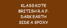 British R.A.F. Dark Earth