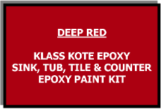 Deep Red Bathtub Painting Kit