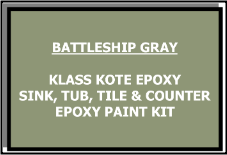 Battleship Gray Bathtub Painting Kit