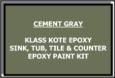 Cement Gray Bathtub Painting Kit