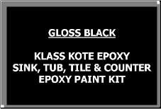 Gloss Black Bathtub Painting Kit