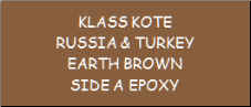 Russia & Turkey Earth Brown