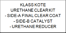 Urethane Clear Kit