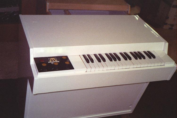 Organ painted with White Klass Kote Epoxy paint